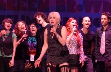 Cyndi Lauper, Regina Spektor, members of Tegan & Sara and Kate Pierson of The B-52's